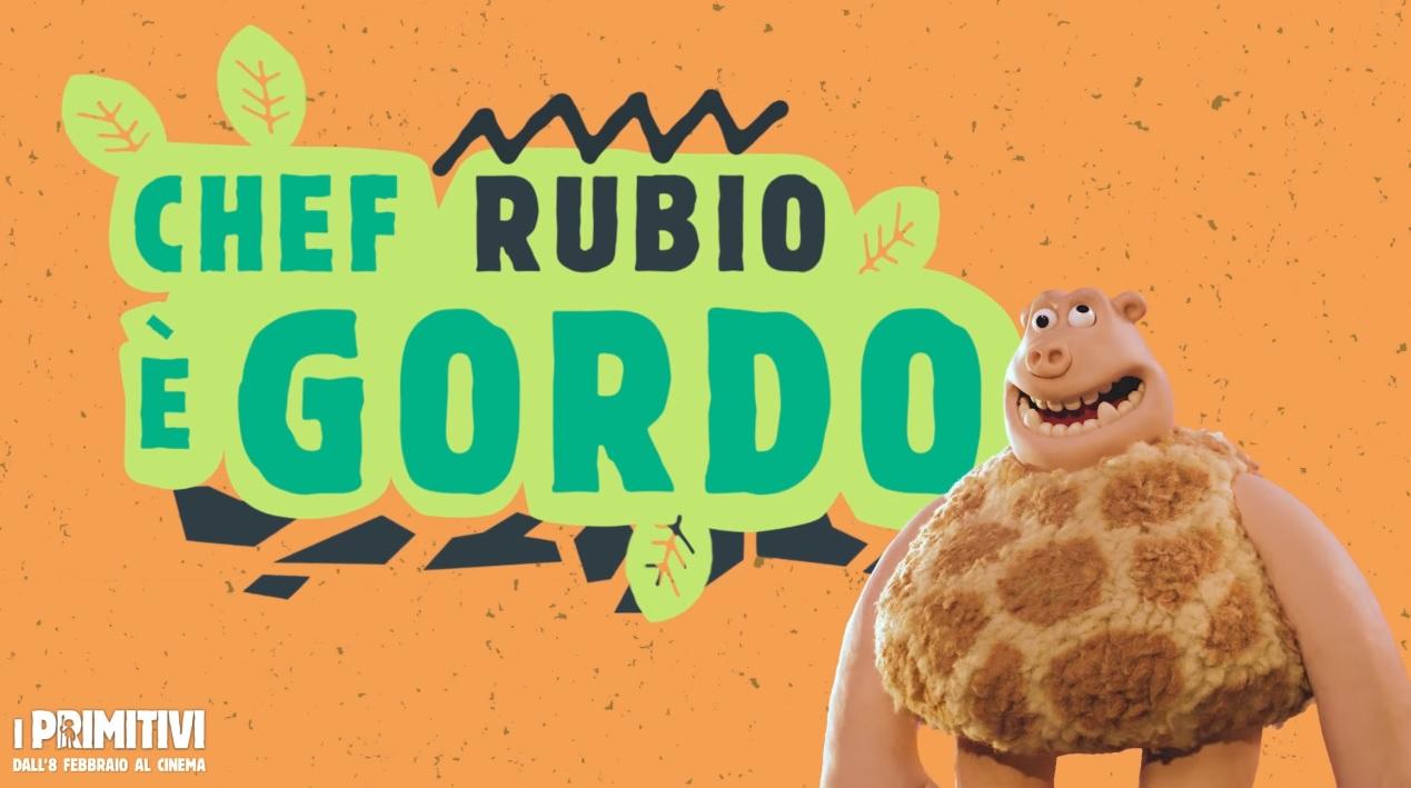 I primitivi film di animazione 2018 Doppiatori Che Rubio da la voce a Gordo