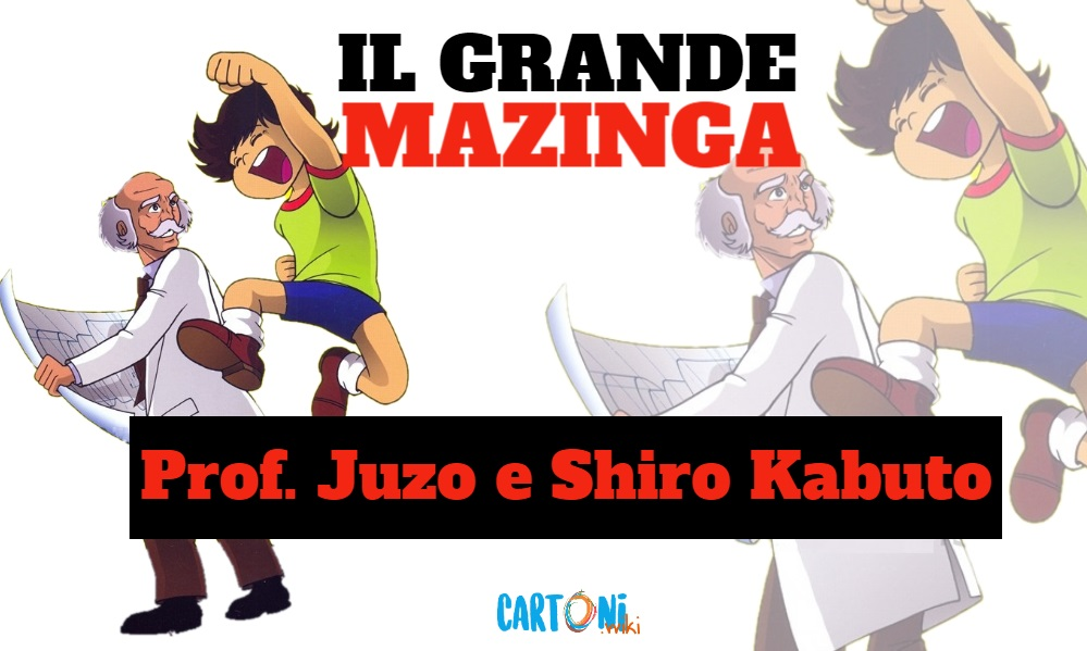 Prof Juzo Kabuto e Shiro Kabuto - Il grande mazinga the great mazinger - anime - cartoni animati anni 70 - mesha - robot