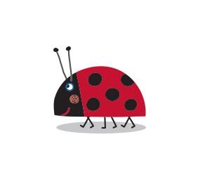 Il piccolo Regno di Ben e Holly - Personaggi - Gastone - coccinella - cartoni animati - cartone animato - Bambini età prescolare - 0-3 anni - Rai Yoyo