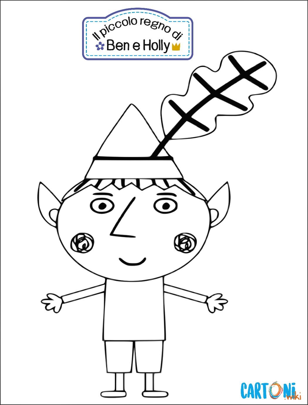 Colora Ben un elfo del piccolo Regno - Stampa e colora