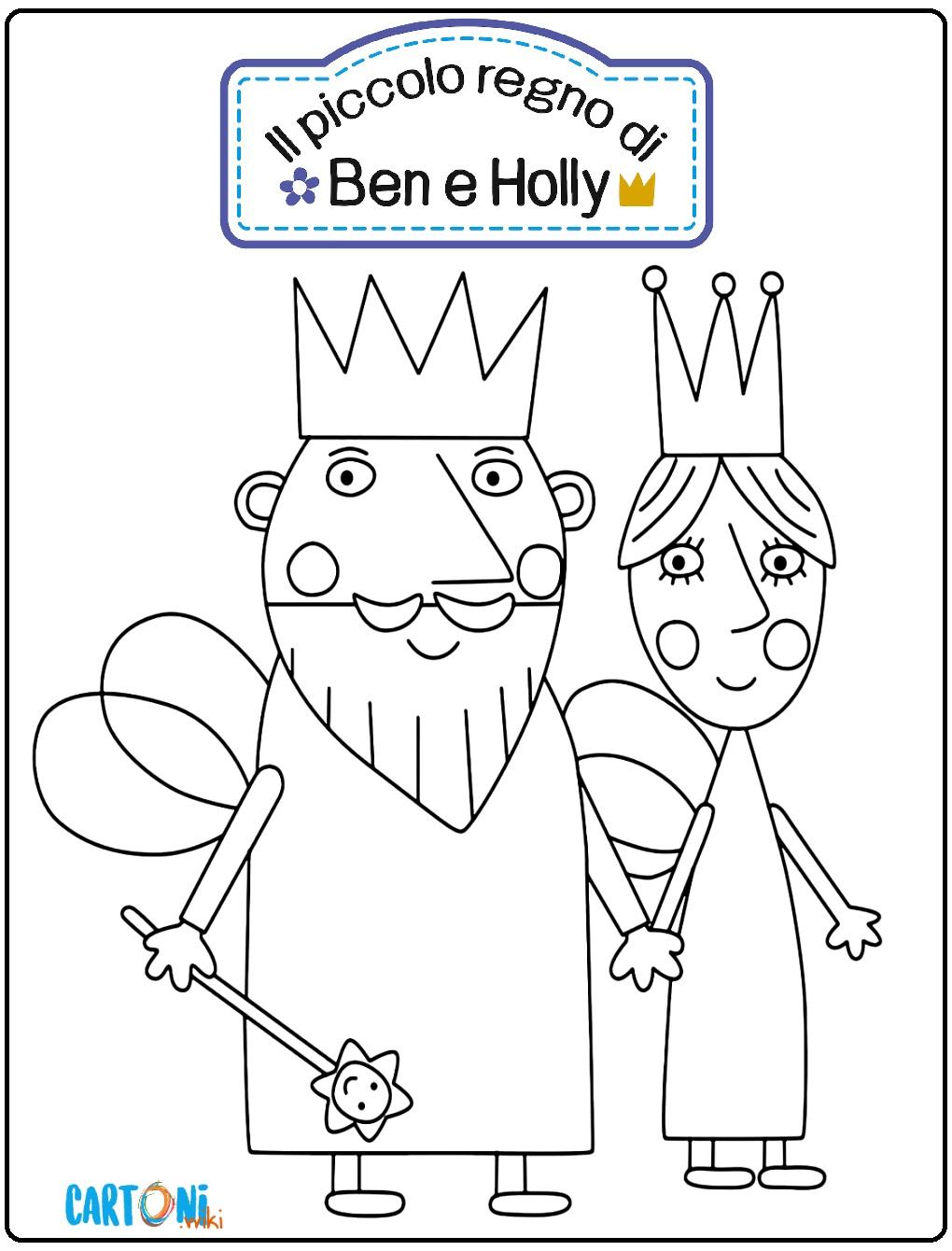 Il piccolo Regno di Ben e Holly disegni da stampare - Disegni da colorare