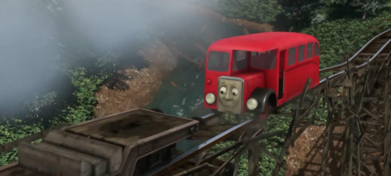 Il trenino Thomas personaggi Berty autobus trasporto passeggeri - personaggio cartone animato il trenino Thomas - cartoni animati