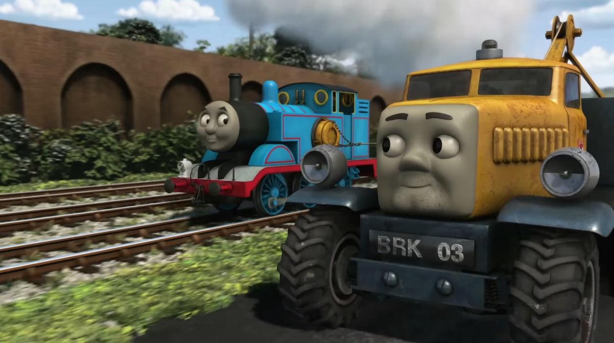 Il trenino Thomas personaggi Butch soccorso e salvataggio - personaggio cartone animato il trenino Thomas - cartoni animati