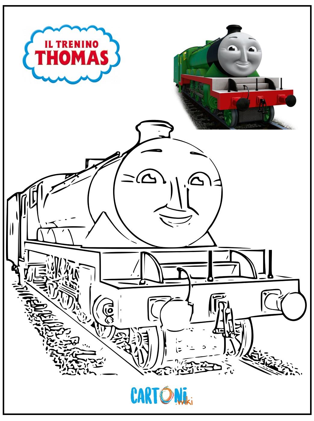 Disegni Da Colorare Il Trenino Thomas Cartoni Animati