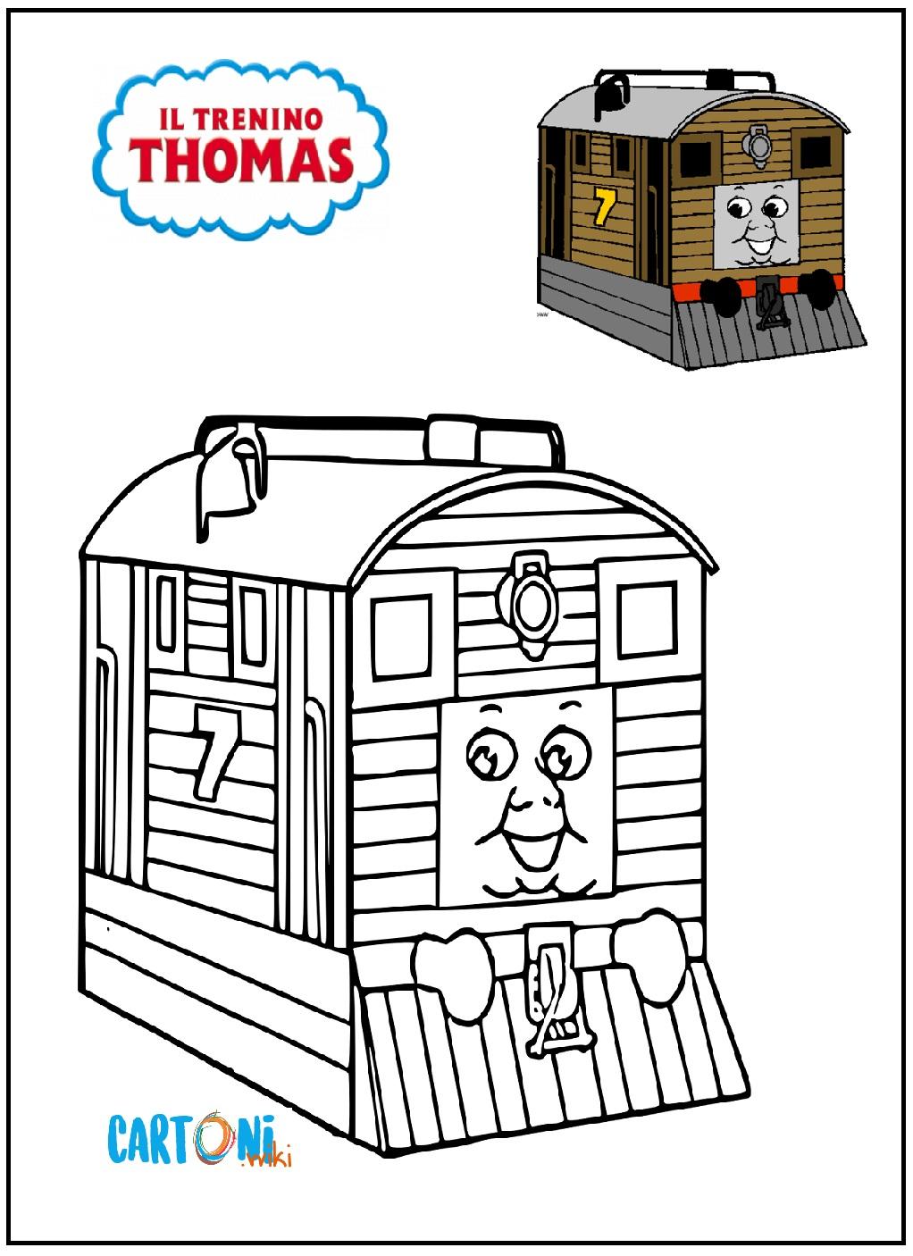 Stampa i disegni del trenino Thomas - Disegni da colorare