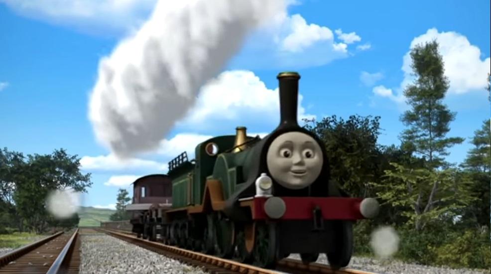 Il trenino Thomas personaggi Emily Locomotiva  - personaggio cartone animato il trenino Thomas - cartoni animati