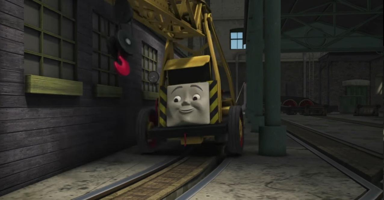 Il trenino Thomas personaggi Kevin gru dell'officina - personaggio cartone animato il trenino Thomas - cartoni animati