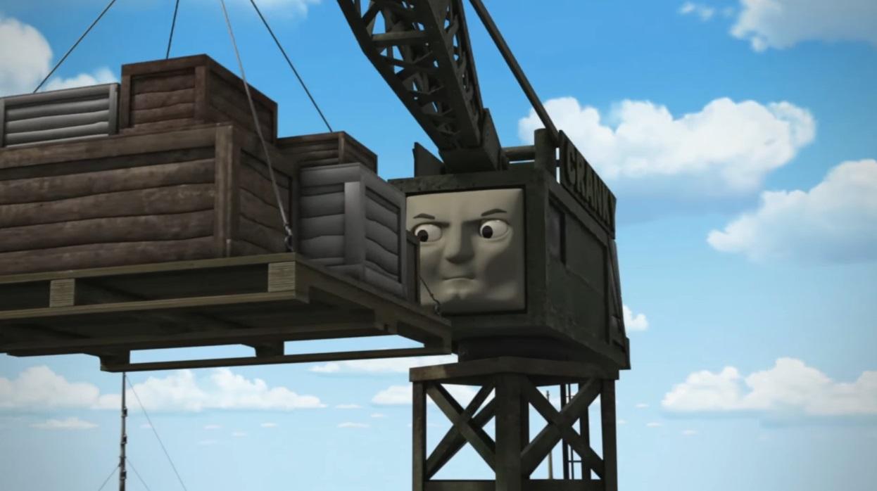 Il trenino Thomas personaggi Cranky la gru - personaggio cartone animato il trenino Thomas - cartoni animati