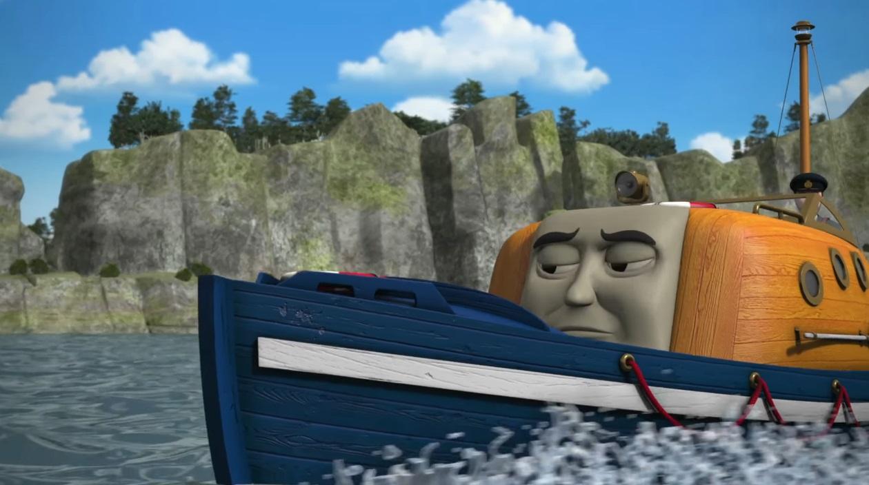 Il trenino Thomas personaggi Capitan Lascialuppa - nave - personaggio cartone animato il trenino Thomas - cartoni animati