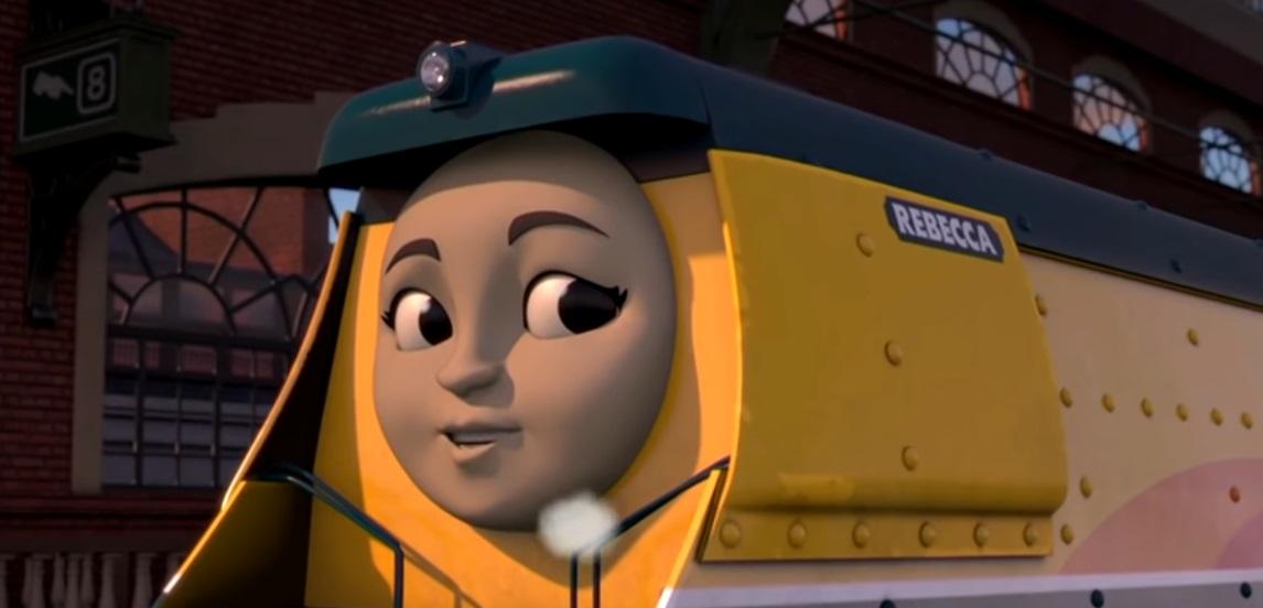 Il trenino Thomas personaggi Rebecca Locomotiva  - personaggio cartone animato il trenino Thomas - cartoni animati