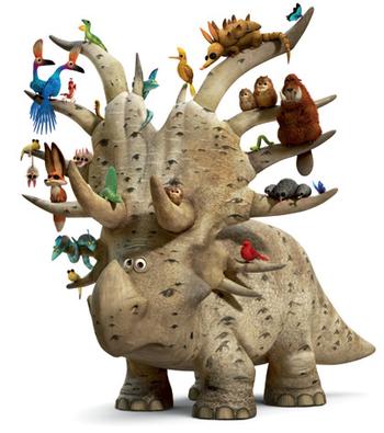 Il viaggio di Arlo - Silvano lo Sciamano - Dinosauro  Stiracosauro  - The good dinousaur - Film di animazione Disney Pixar