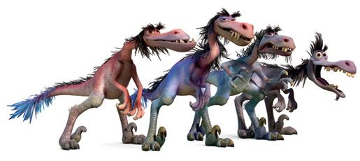 Il viaggio di Arlo - Butch - Velociraptor - Bubbha - Earl - Pervis - Lerleane - The good dinousaur - Film di animazione Disney Pixar