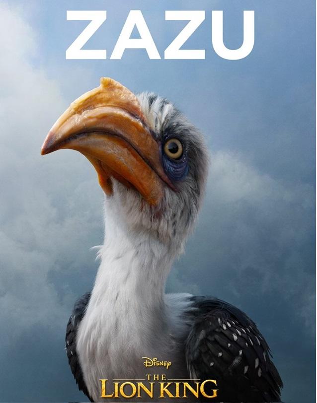 Il re leone film Disney 2019 - personaggi Zazu