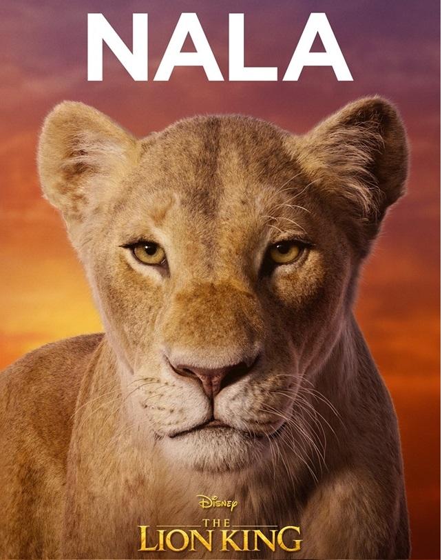 Il re leone film Disney 2019 - personaggi Nala