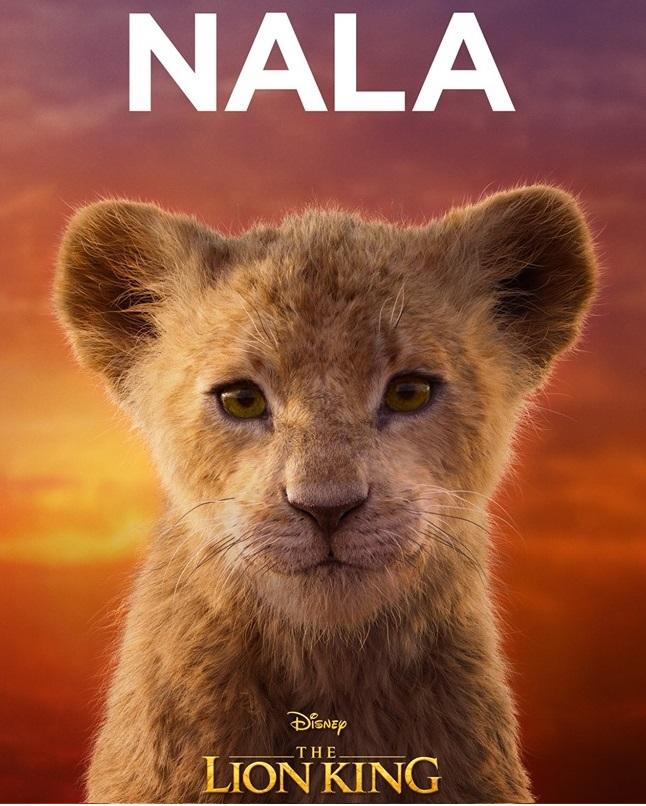 Il re leone film Disney 2019 - personaggi Nala Cucciola
