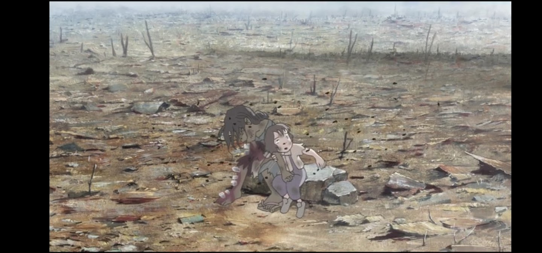 In questo angolo di mondo - Kono sekai no katasumi ni - film di animazione giapponese 2016 - anime -  bambina con madre morta