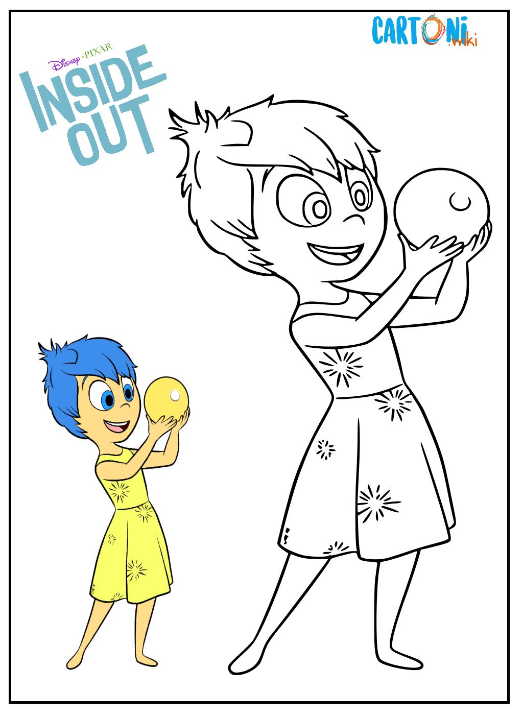 Gioia Inside Out da colorare - Disegni da colorare