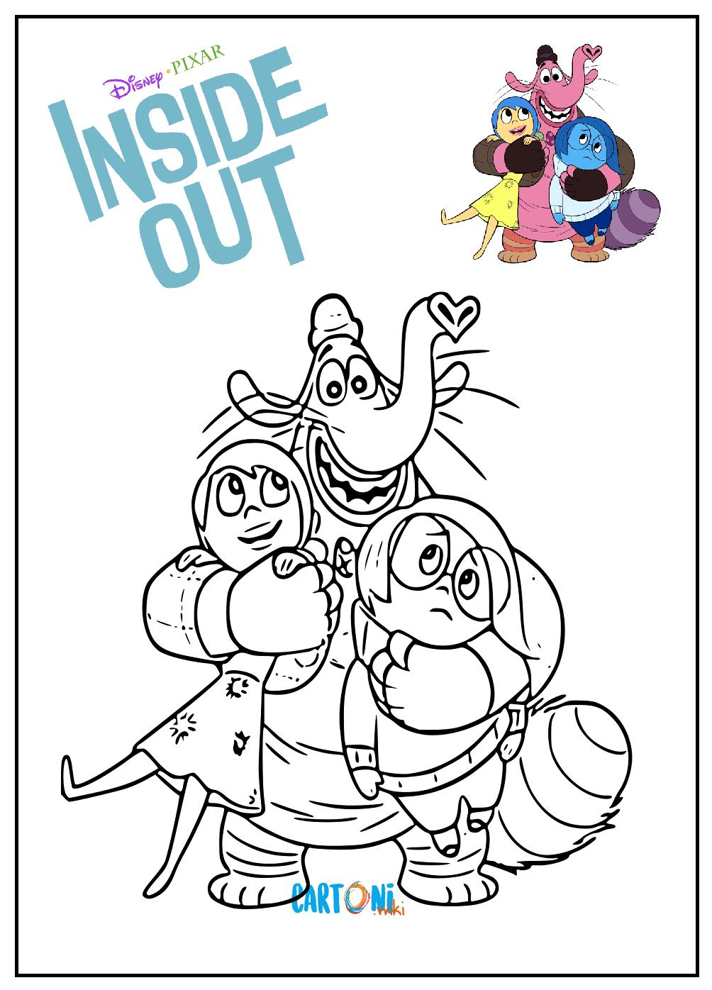 Personaggi Inside Out da stampare e colorare - Disegni da colorare