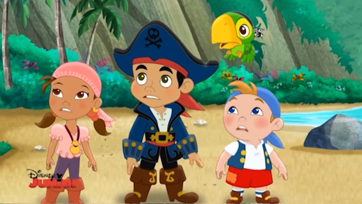 Jake e i pirati dell'isola che non c'è cartone animato Jake Izzy Cuddy Skully