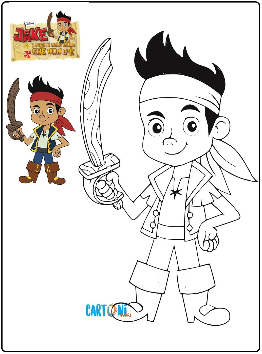 Colora Jake e i pirati dell'isola che non c'è - Stampa e colora