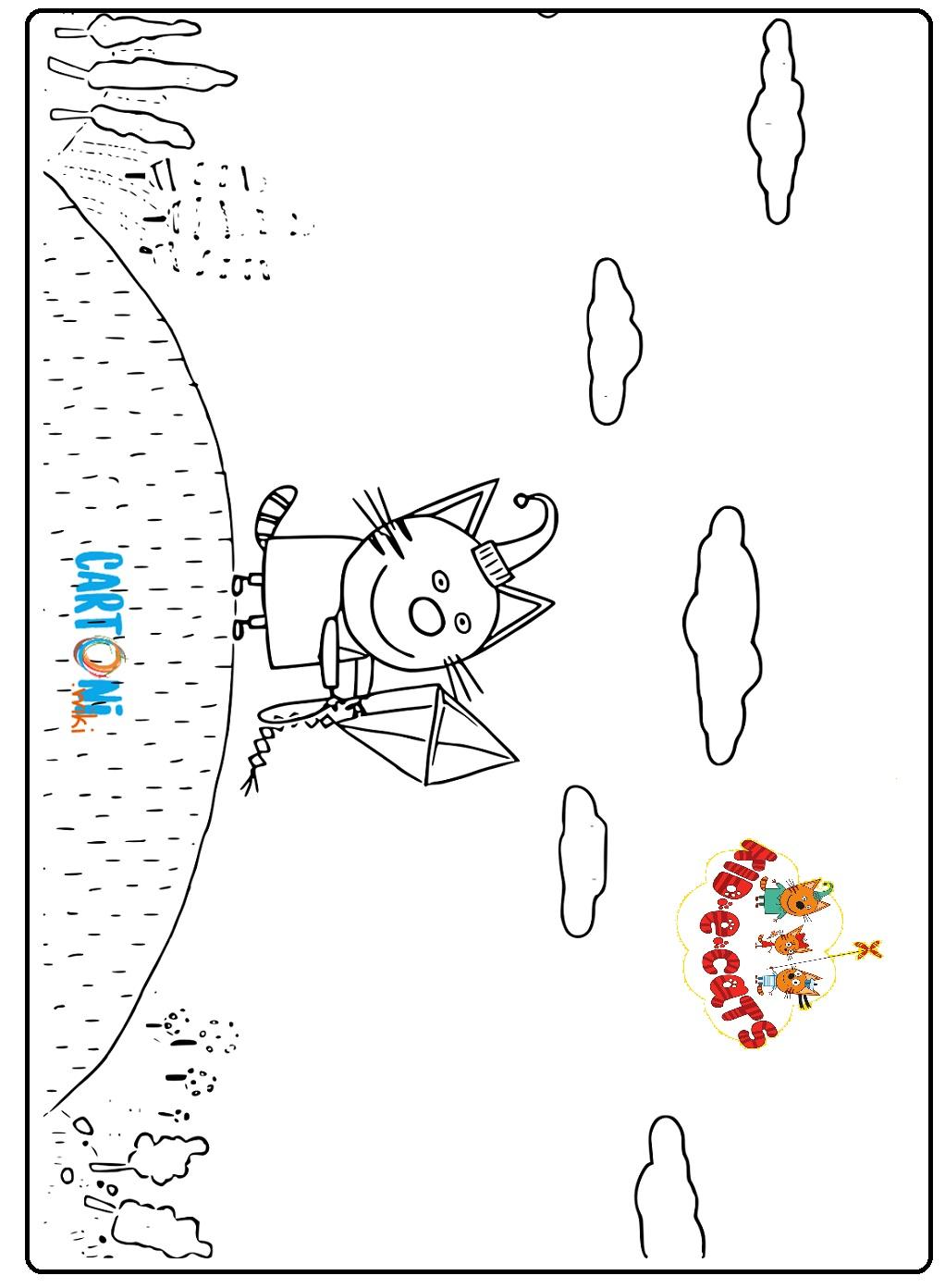 Colora Budino di Kid-E-Cats - Disegni da colorare