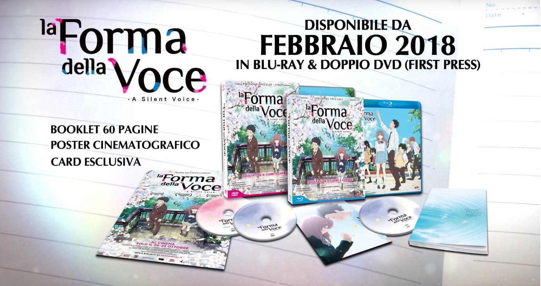 La forma della voce Dvd anime cartoni animati film di animazione 2016 - A silent voice