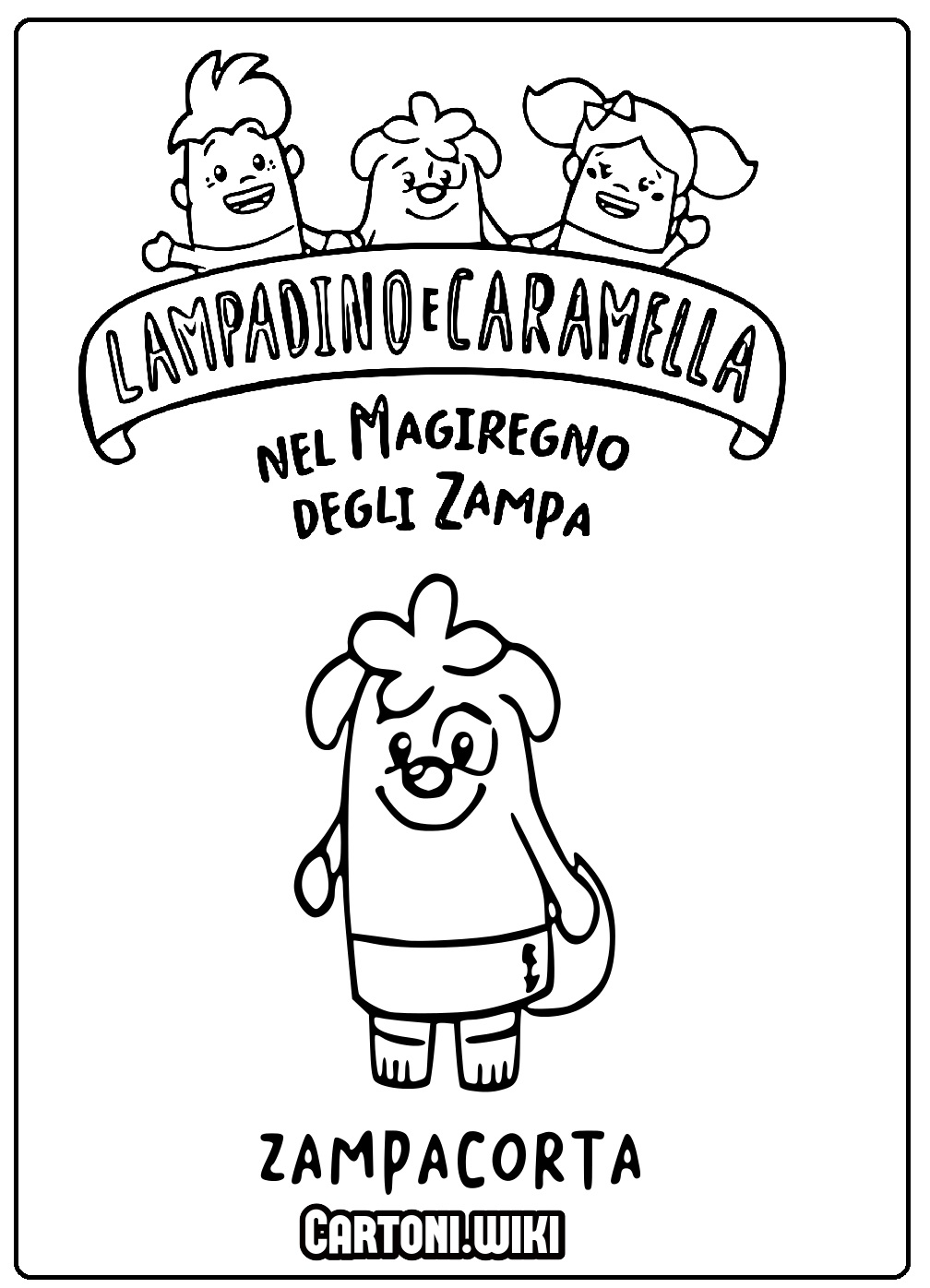 Colora Zampacorta di Lampadino e Caramella - Cartoni animati