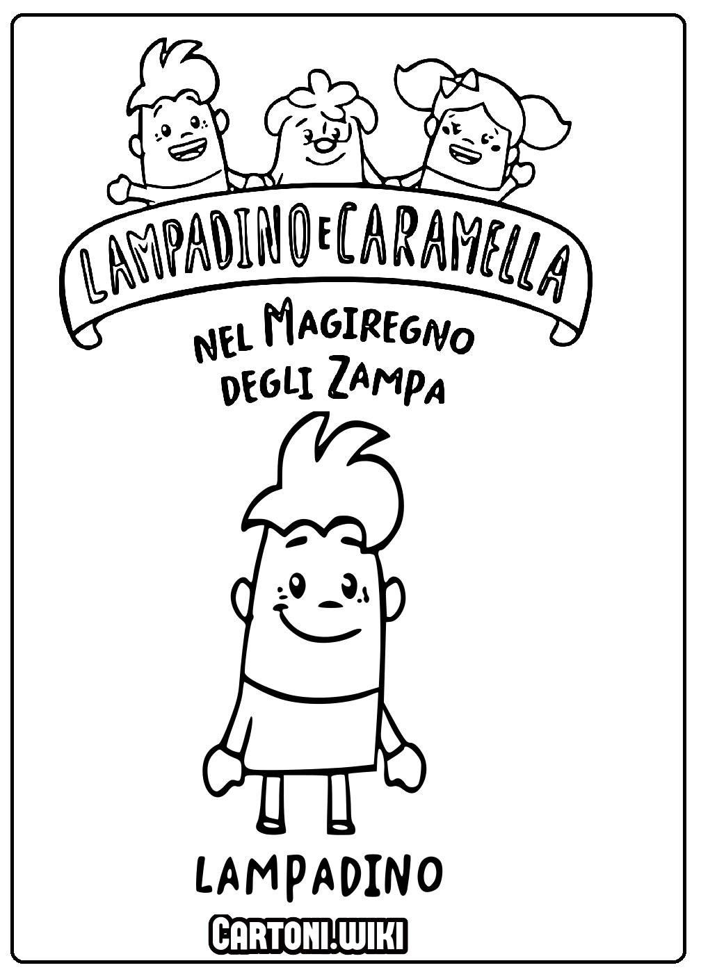 Colora Lampadino di Lampadino e Caramella - Cartoni animati