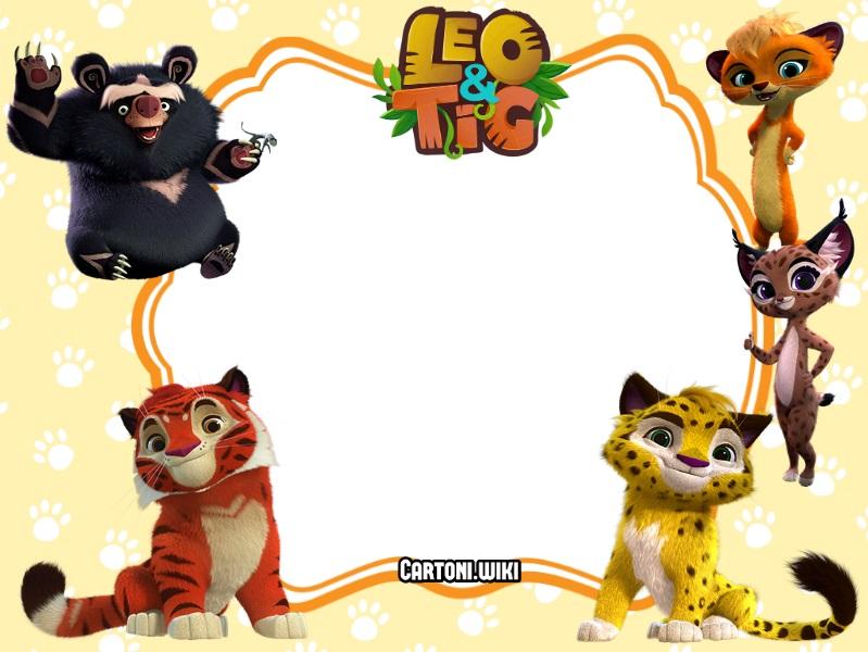 Leo e Tig invito festa compleanno - Inviti compleanno bambini