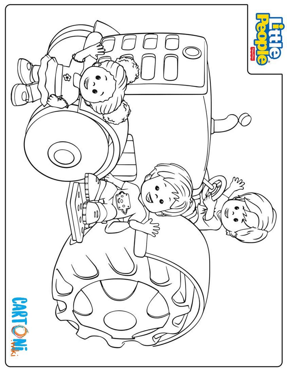 Disegno Little people da stampare e colorare - Disegni da colorare