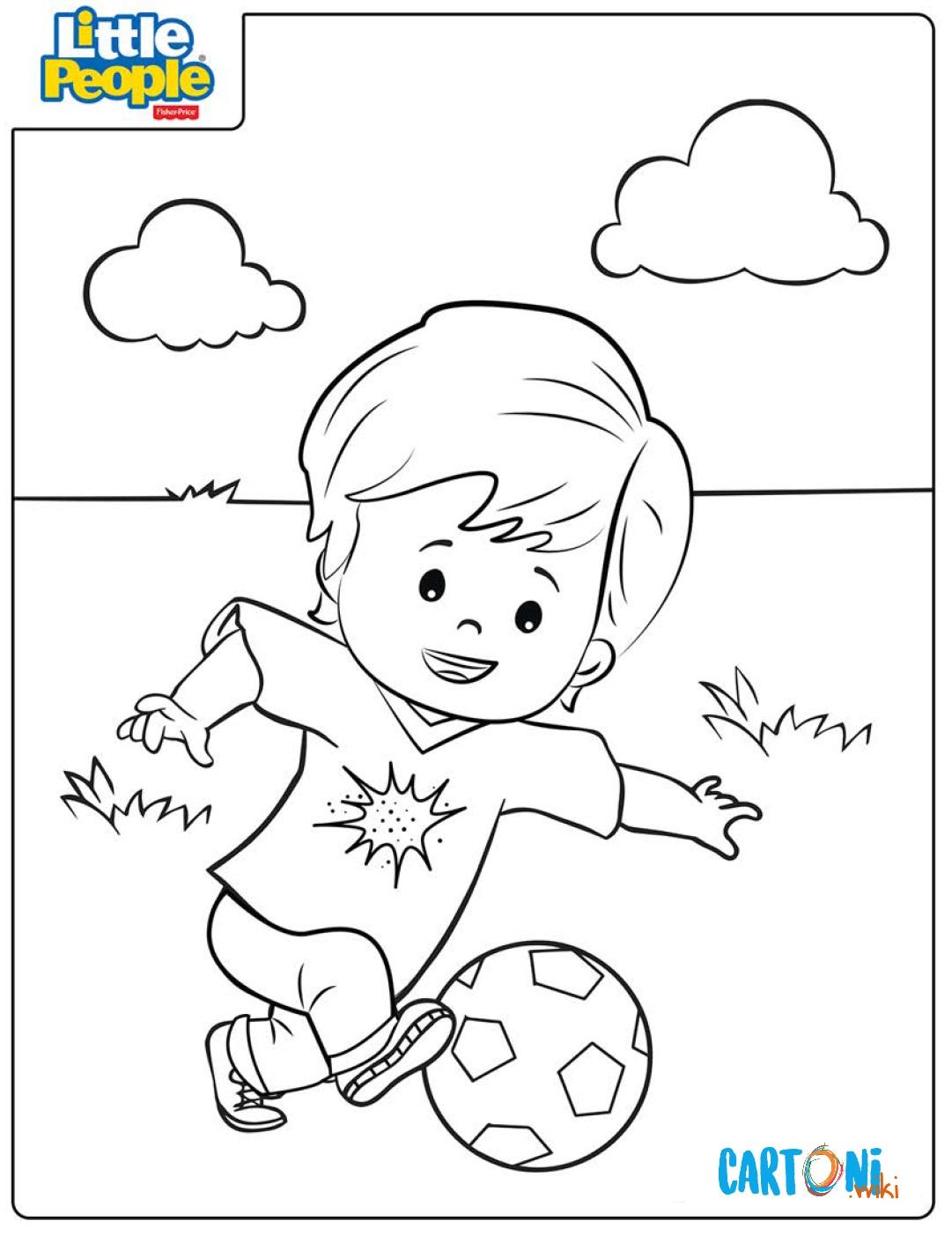 Disegno Da Colorare Bambini Che Giocano.Eddie Che Gioca A Pallone Disegno Da Colorare Cartoni Animati