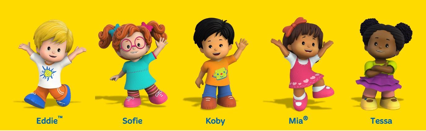 Little people cartoni animati basato su giocattoli fisher price personaggi Eddie Sofie Koby Mia Tessa