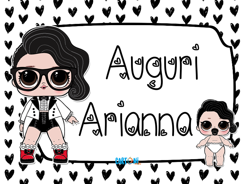 Lol surprise Black Tie Auguri Arianna - Cartoni animati