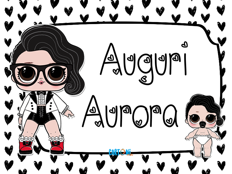 Lol surprise Black Tie Auguri Aurora - Auguri Aurora
