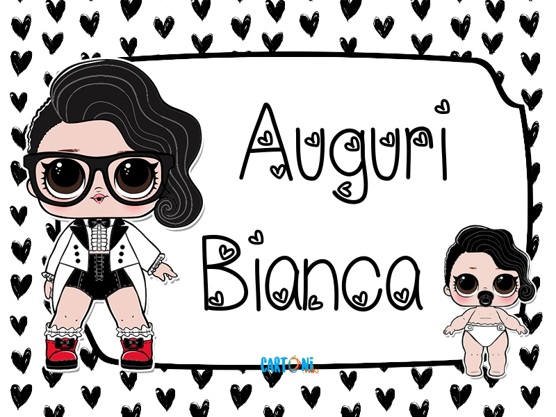 Lol surprise Black Tie Auguri Bianca - Cartoni animati
