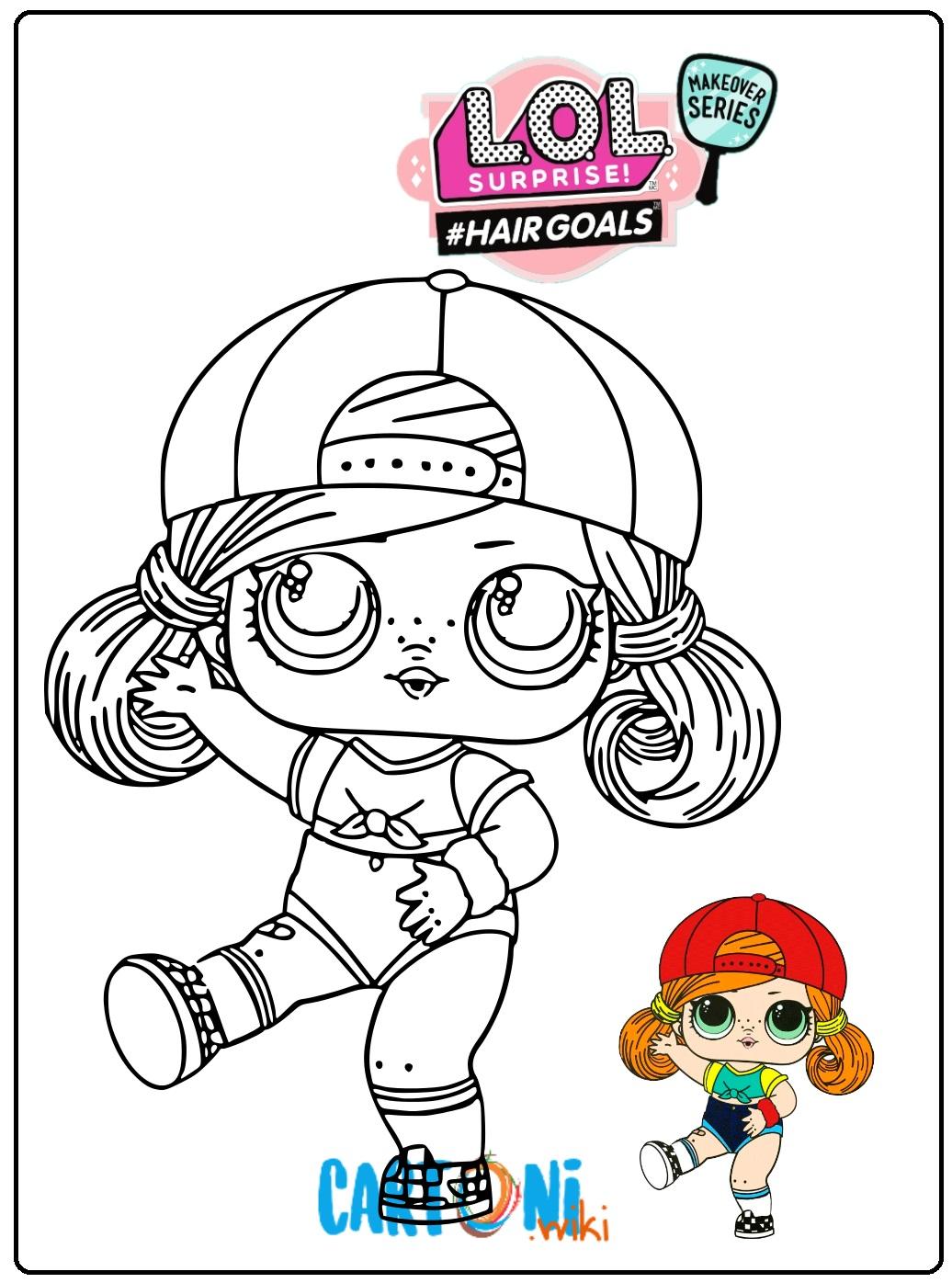 Sk8er Grrrl Lol surprice serie 5 #hairgoals da colorare - Stampa e colora