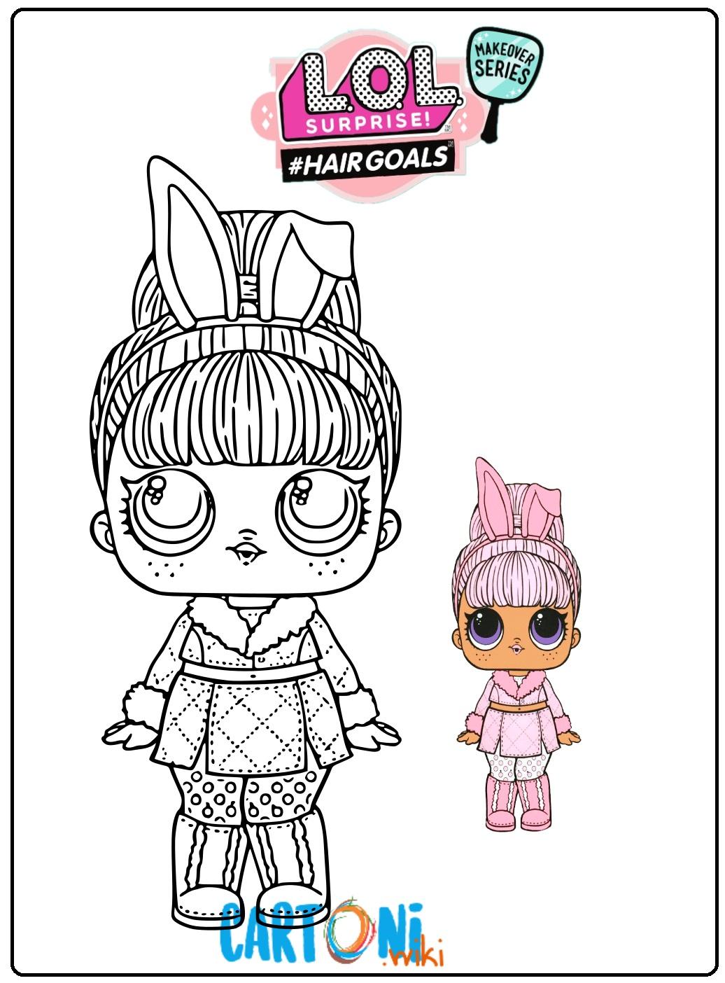 Snow Bunny Lol Surprice serie 5 #hairgoals makeover da colorare - Disegni da colorare