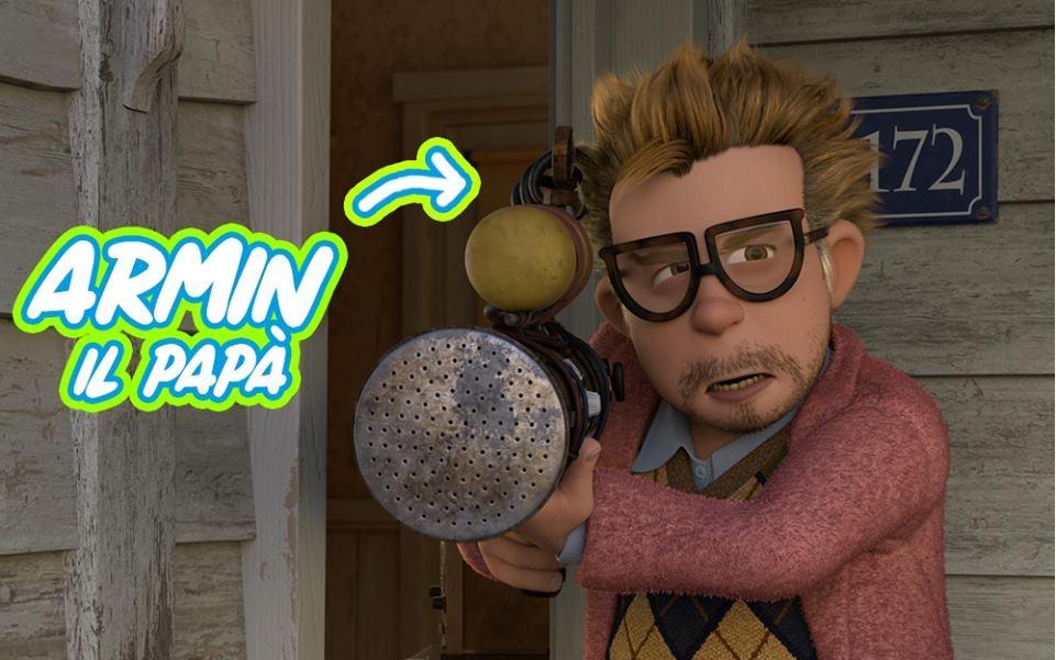 Luis e gli alieni - Armin il papà di Luis - film di animazione 2018 al cinema l'11luglio personaggi Luis & the aliens - imdb - trailer - trama - uscita
