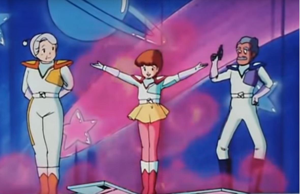 Magica Magica Emi cartoni animati giapponesi anime italia 1 italia 2 - Mai e i nonni in uno spettacolo di magia