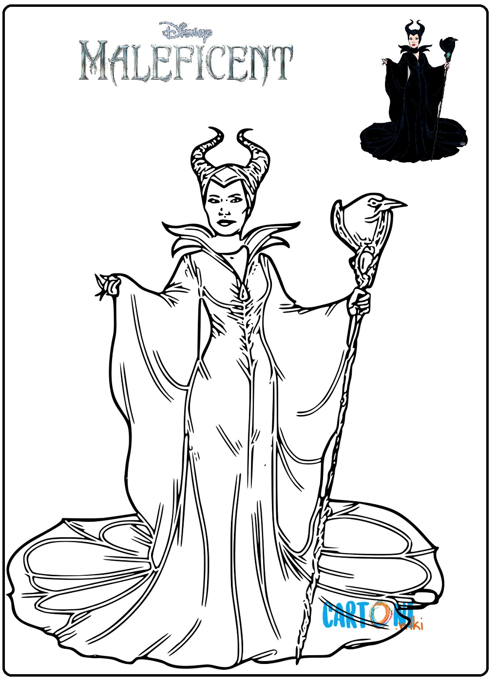 Disegno Maleficent da stampare - Disegni da colorare