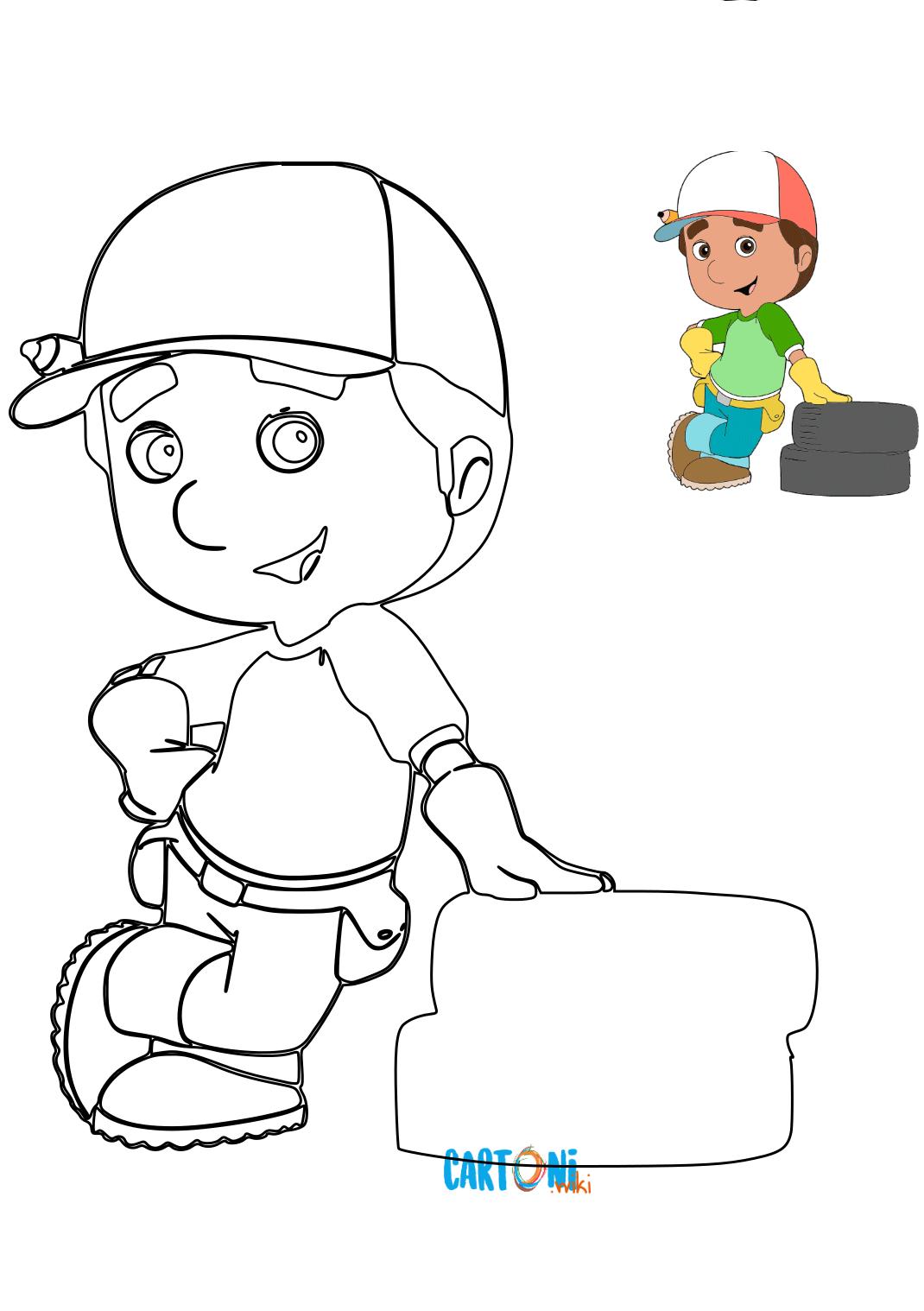 Manny tuttofare stampa disegni - Disegni da colorare