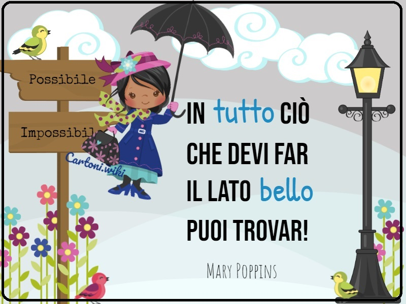 Mary Poppins le frasi più belle - Cartoni animati