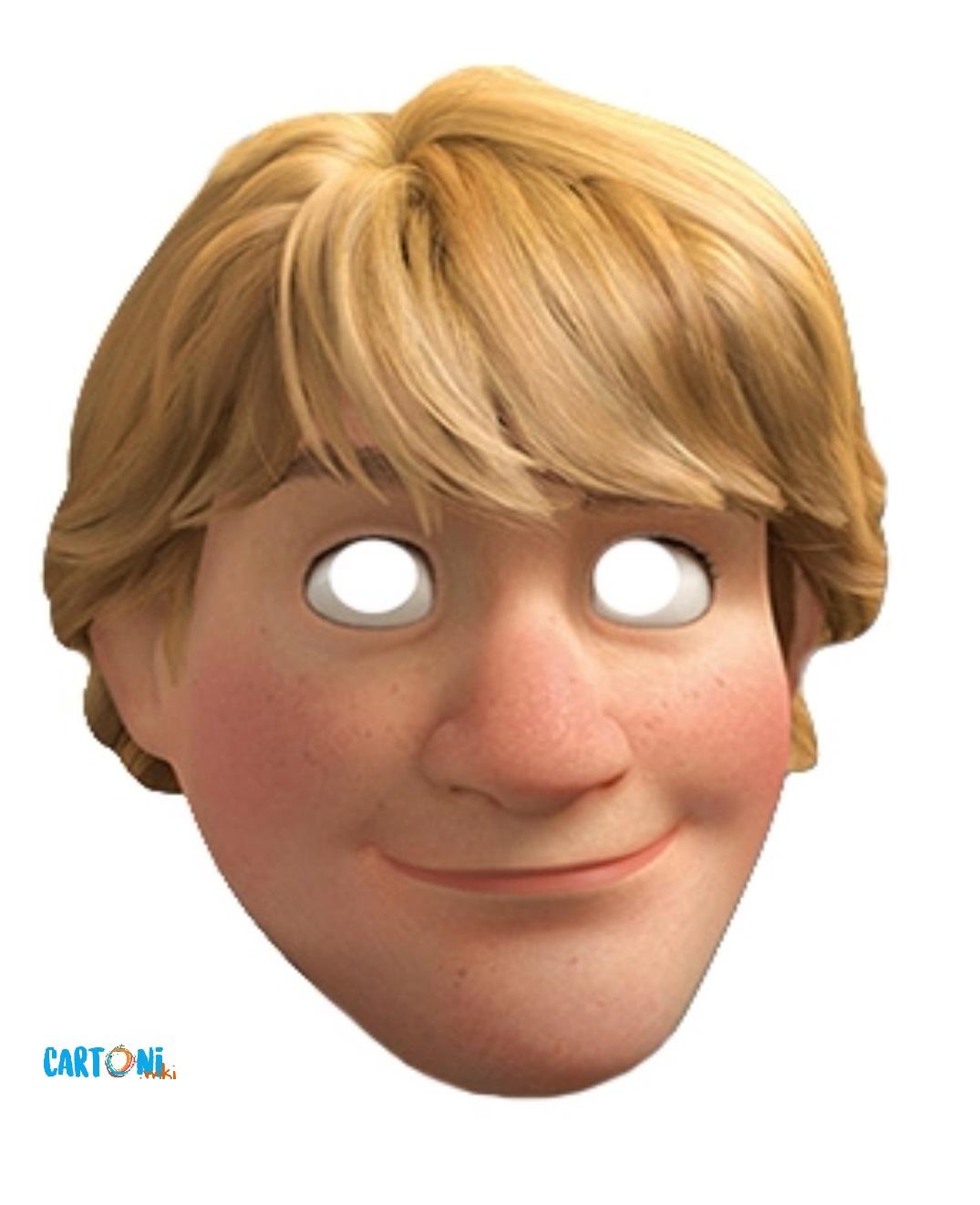 Frozen Stampa la maschera di Kristoff - Maschere