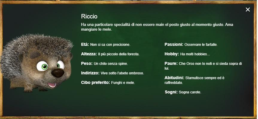 Riccio - Masha e Orso - personaggi