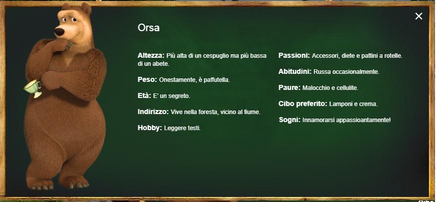 Orsa - Masha e Orso - personaggi