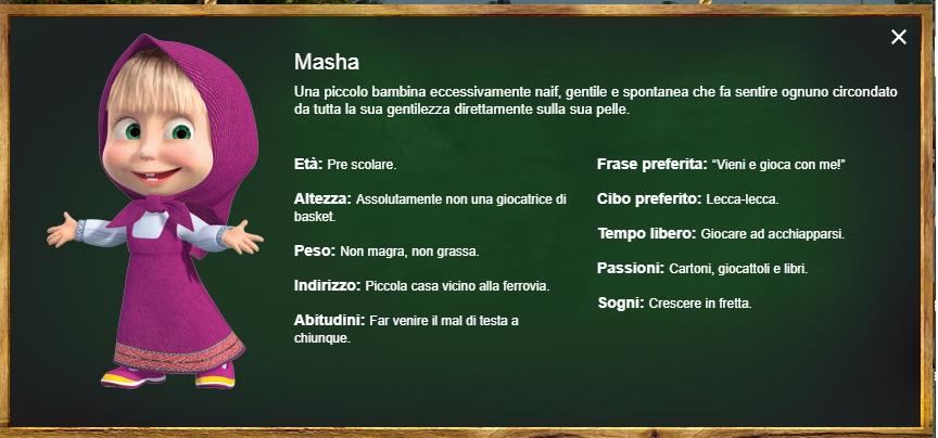 Masha - Masha e Orso - personaggi