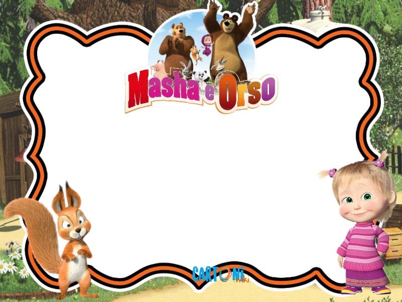 Invito compleanno con Masha e Orso - inviti compleanno online