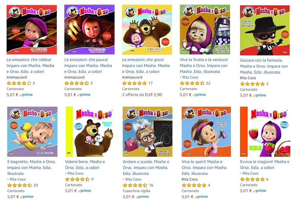 Masha e Orso libri per bambini in età prescolare