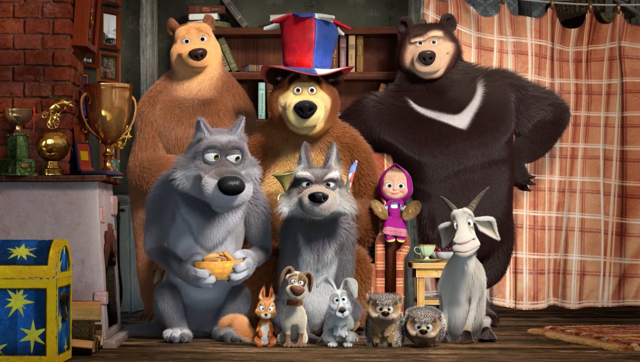 Masha e Orso - Personaggi - Orsa -  Lupo - Scoiattolo - Coniglio - Maiale - Ricci  - Pecora - Masha and the bear Characters