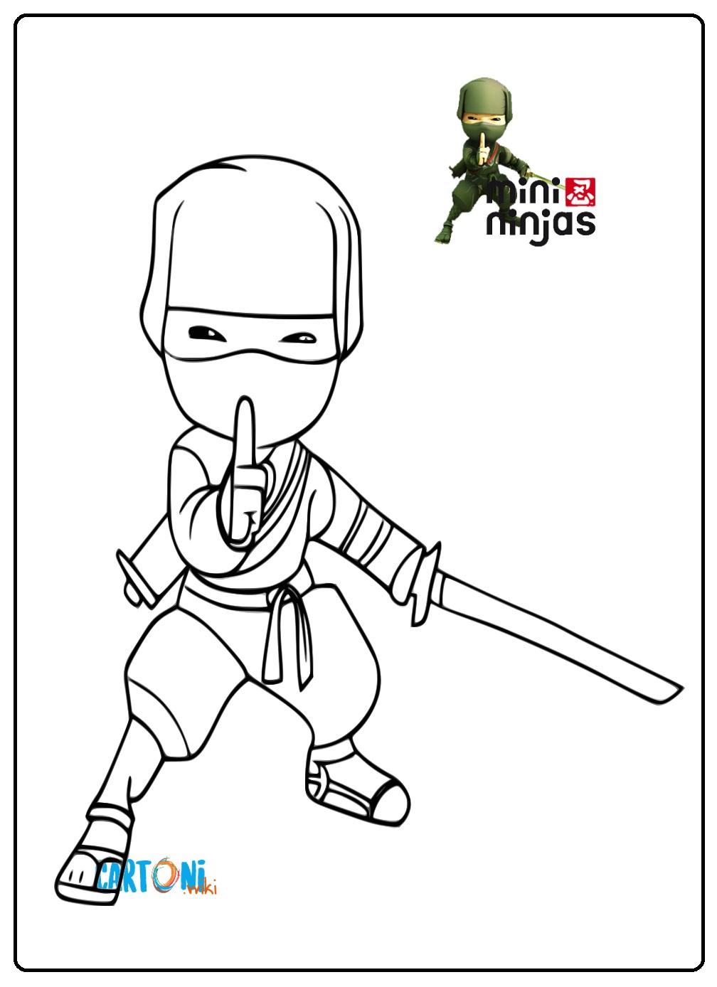 Disegno Mini Ninjas da stampare - Stampa e colora